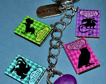 Harry Potter Book Keychain