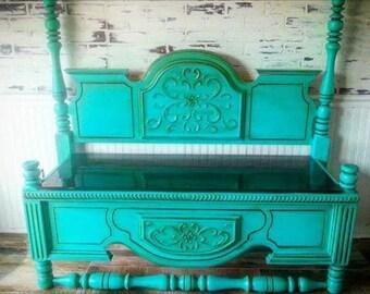 Vintage headboard bench
