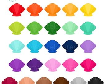 sea shell clip art etsy rh etsy com seashell clip art black and white seashell clip art free images