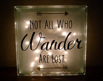 Not All Who Wander Are Lost Quote Night Light
