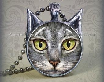 TBKG6 Grey Tabby Cat pendant