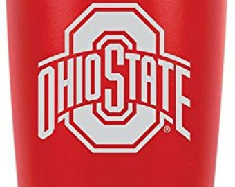 Ohio State Polar Camel 20 oz. OFFICIALLY LICENSED Red Vacuum Insulated Tumbler w/Clear Lid