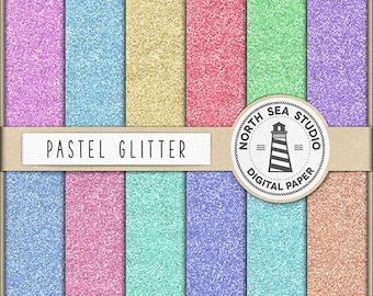 SHINE ALL DAY, Glitter Digital Paper, Pastel Glitter Paper, Sparkles Glitzy Backgrounds, Commercial Use, Instant Download BUY5FOR8