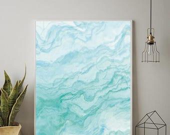 OCEAN PRINT, Abstract Wall Art, Abstract Art, Ocean Art, Marble Art, Marble Decor, Scandinavian Print, Scandinavian Wall Art, Minimalist Art