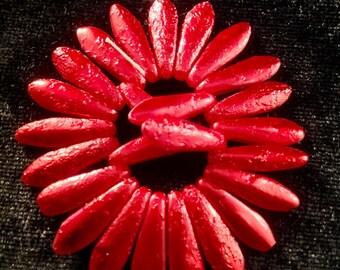 15x6 Metallic Red Etch Daggers