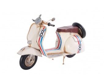 Cream Vintage Vespa Scooter Model