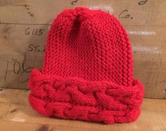 Red Knit Hat Vintage
