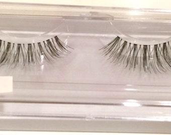 100% Human Hair Eye Lashes - Hand Made [Wispies] - [x10]