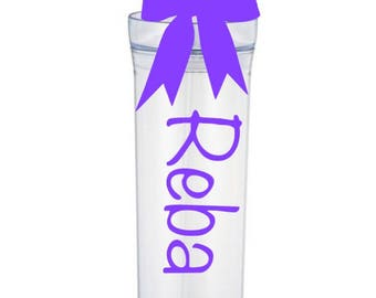 Personalized Tumbler with Ribbon