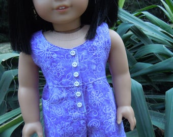 Romper outfit to fit American Girl Doll or 18 in. doll