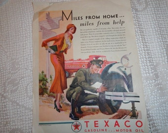 Hollands Magazine Cover with Texaco Ad on Back 1931