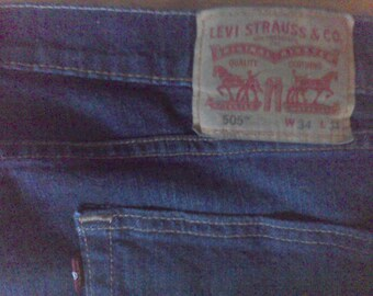 Mens Jeans Levi Strauss, 505, 34-34, mens western ware