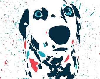 Colorful Dalmatian Splatter Print - Instant Download