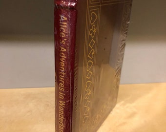 Easton Press Alice's Adventures in Wonderland by Lewis Carroll 100 Greatest NEW/ Sealed