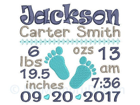 birth announcement template download