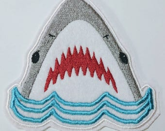 Jaws Shark embroidered patch