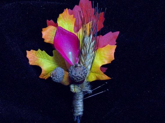 Fall calla lily boutonniere