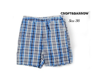 men's summer shorts - casual shorts, men's shorts, men's plaid shorts, summer shorts,  90's shorts, size -36 shorts, # 45