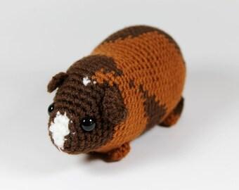 OOAK crocheted chubby guinea pig