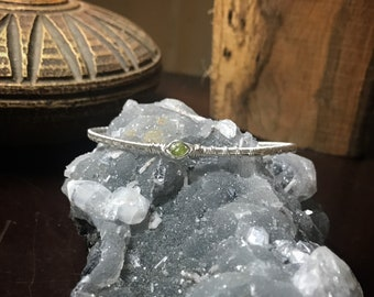Peridot Silver Bracelet Cuff
