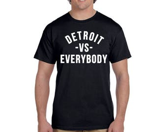 Detroit VS Everybody T Shirt Eminem No Love RAP Music Tees