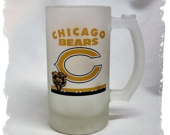 Chicago Bears Frosted 16 ounce Beer Mug