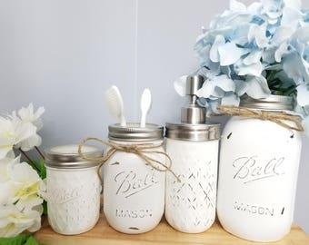 4pc Mason jar Bathroom Set