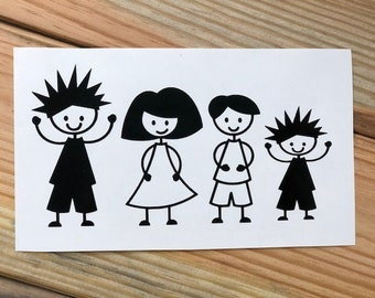 Family Stick People Decals | Stick People | Family | Decals