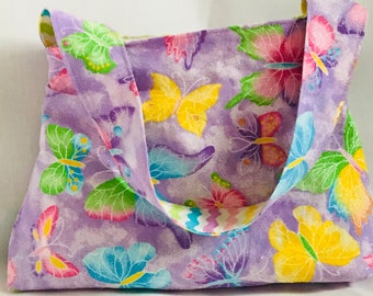 Girl's Reversible Purse- Butterflies