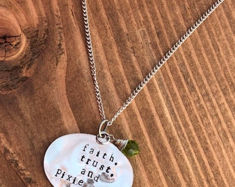 Fairy and pixie dust necklace and charms