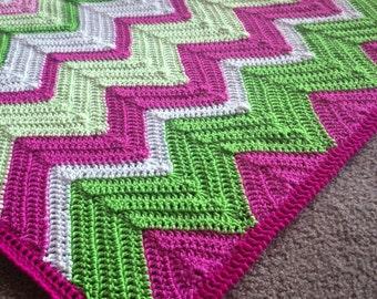 Crochet blanket Pattern tutorial/BabyLove Brand/CypressTextiles/Chevron2.0 Blanket/Solid Chevron Blanket ripple unique modern traditional