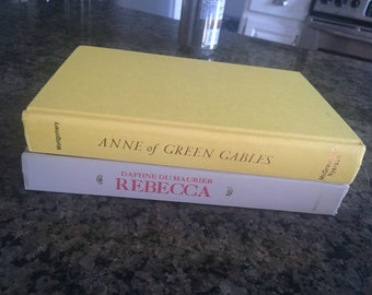2 Vintage Books, Anne of Green Gables First Canadian Edition 1942 and Rebecca, 1938