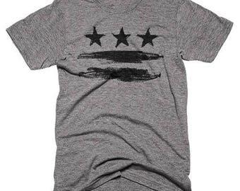 Washington DC FLAG Shirt - Painted DC flag T-shirt