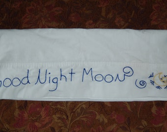 good night moon ooak pillow case