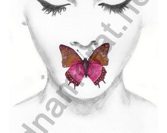 Papillon#3 - poster painting 30x40cm - to download