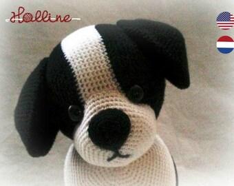 PDF pattern Jed the Puppy crochet amigurumi, English and Dutch