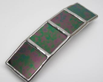 Psychedelic Dream - Large Stained Glass French Barrette