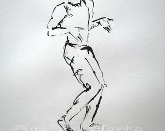 Original ink drawing - Nijinsky - art painting - europeanstreetteam