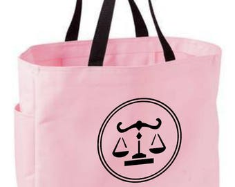 Libra zodiac tote bag - astrology bag - polyester crafting tote bag - Libra horoscope/sun sign/zodiac tote bag - Libra zodiac gift