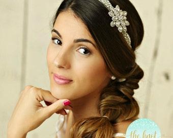 Stunning Bridal Headband, Rhinestone Headband, wedding headband, crystal headband, bridal hair accessories, bohemian bridal headband