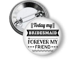 Bridesmaid Button, Bridal Shower Pins, Bachelorette Button, Bridal Party Pins, Team Bride, Hen Party, Hen Night, Bride to Be, Bridal Shower