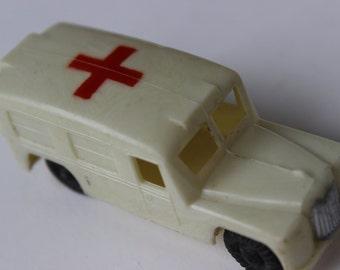 Vintage Red Cross Ambulance Truck Plastic NFIC Antique White Bus antique toy truck red cross