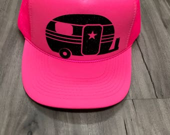 Camper Camping Trucker Hat Mesh Camping Desert Riding Country Women's Ocotillo Glamis Dunes