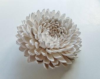 Unglazed Porcelain Chrysanthemum