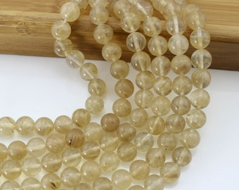 "Charm Round watermelo Beads Gemstone Beads  --- One Full Strand----15"" in length-NS-004"