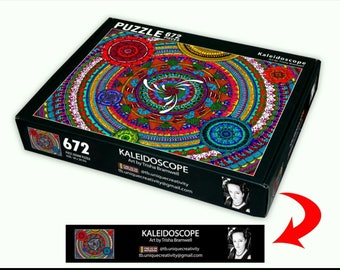 Jigsaw puzzle, 18x24, Original Mandala art. Supplies are Limited
