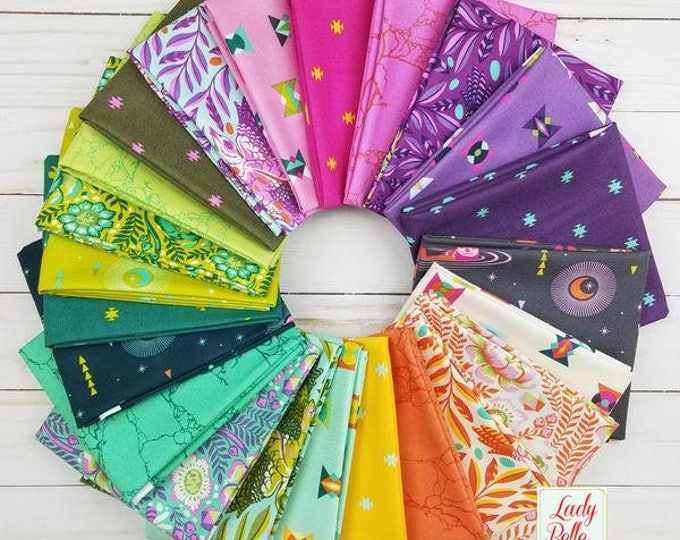 Featured listing image: Tula Pink Spirit Animal 23 PCS Fat Quarter Bundle Collection Quilt Fabric