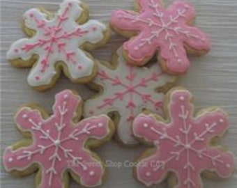 Snowflake cookies 2 dozen