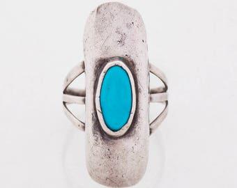 Vintage Ring - Vintage Sterling Silver Turquoise Ring