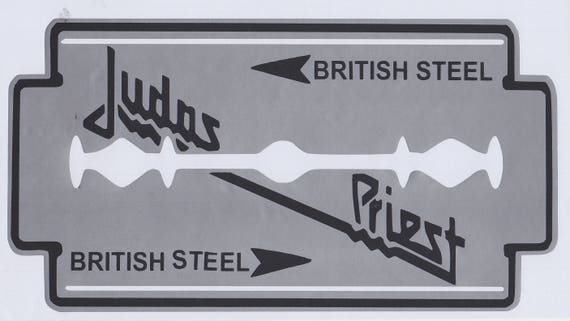 Judas priest british steel permanent vinyl decal